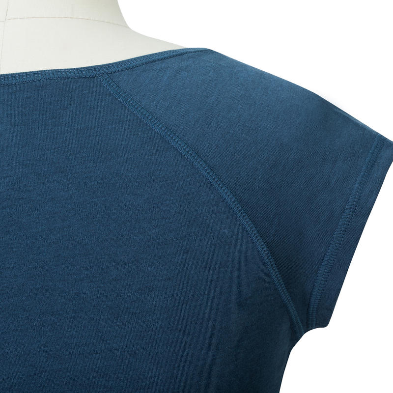 500 Women's Slim-Fit Gym T-Shirt - Dark Blue