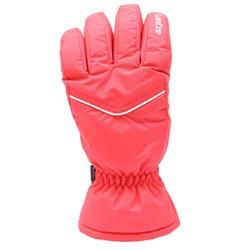 成人滑雪手套SKI-P GL 100 - 珊瑚紅