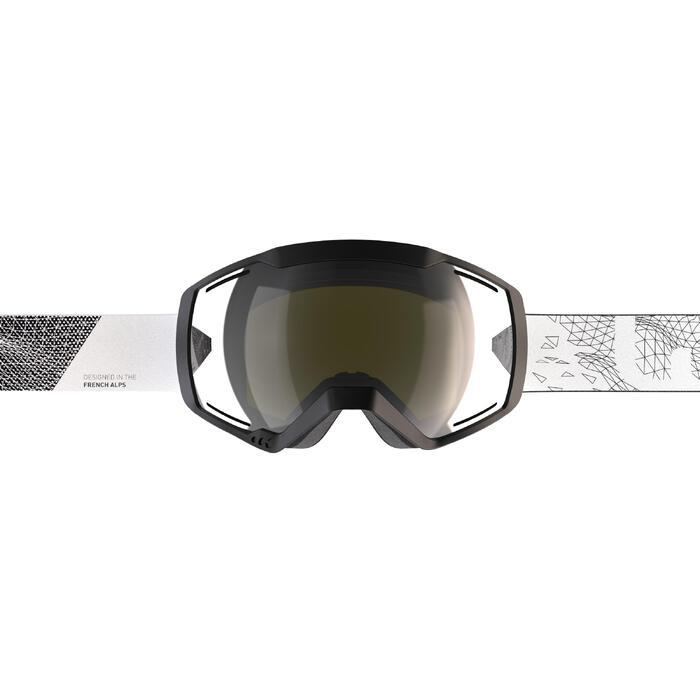 Ski- en snowboardbril volwassenen en kinderen G 540 B S3 zwart mooi weer zwart
