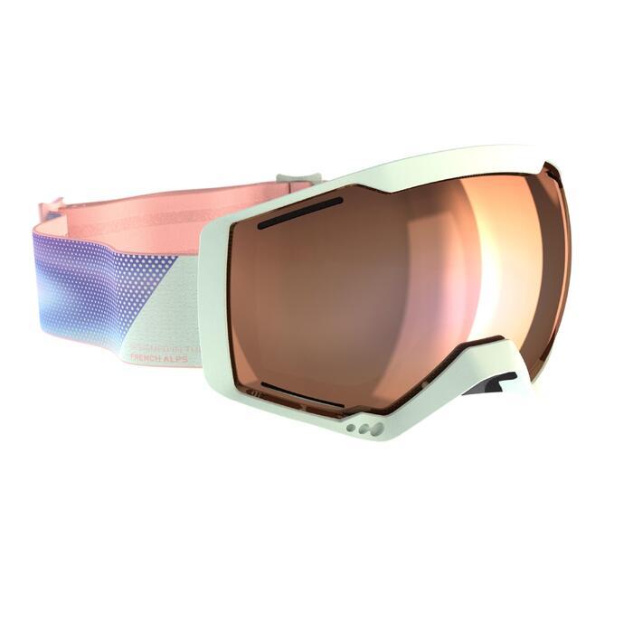 Ski- en snowboardbril dames en meisjes G 540 B S3 blauw mooi weer zwart
