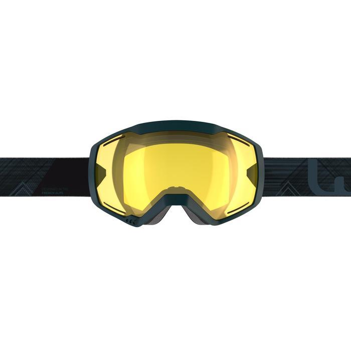 SKI- EN SNOWBOARDBRIL VOLWASSENEN KINDEREN G 540 B S1 SLECHT WEER BLAUW