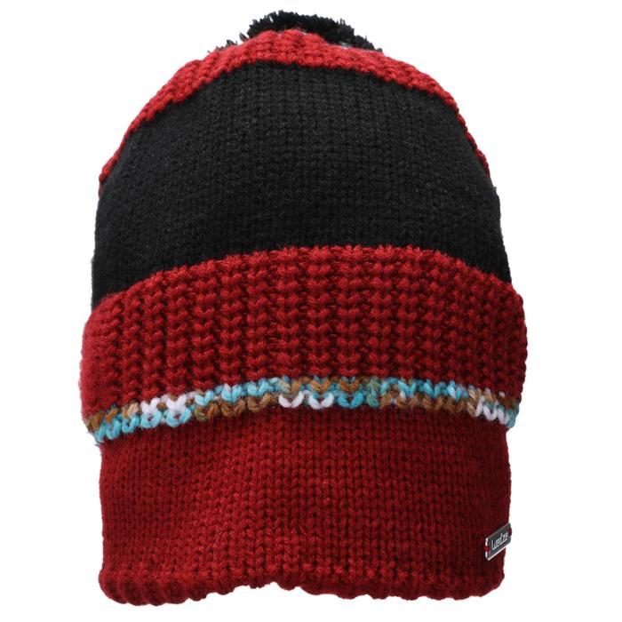 成人滑雪帽PLEATS波爾多酒紅
