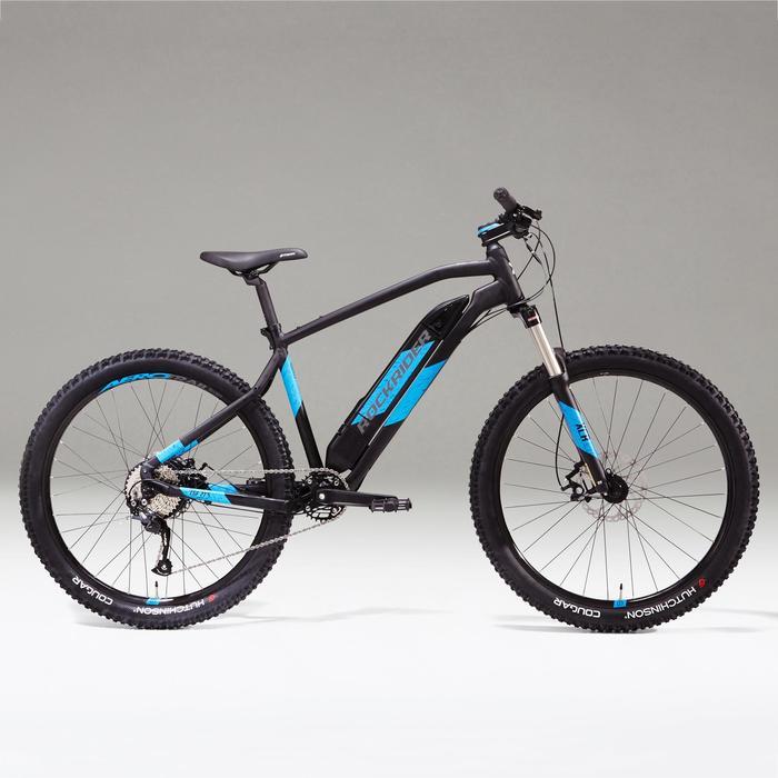 Elektrische MTB E-ST500 zwart/blauw