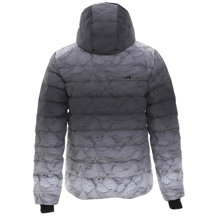 男款保暖滑雪羽絨外套Ski-P 500 - 白色/黑色