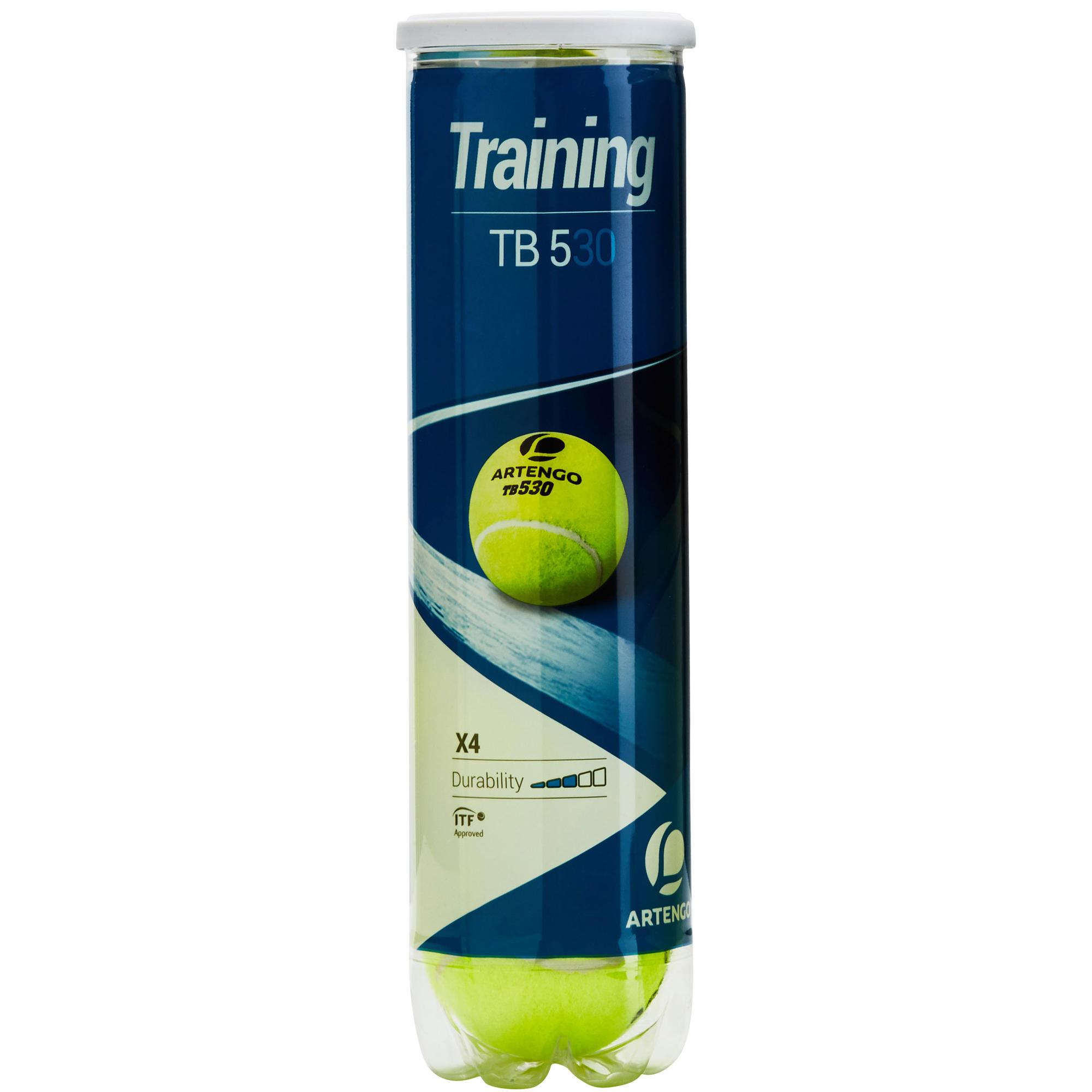 balles de tennis entrainement tb 530 4 jaune artengo