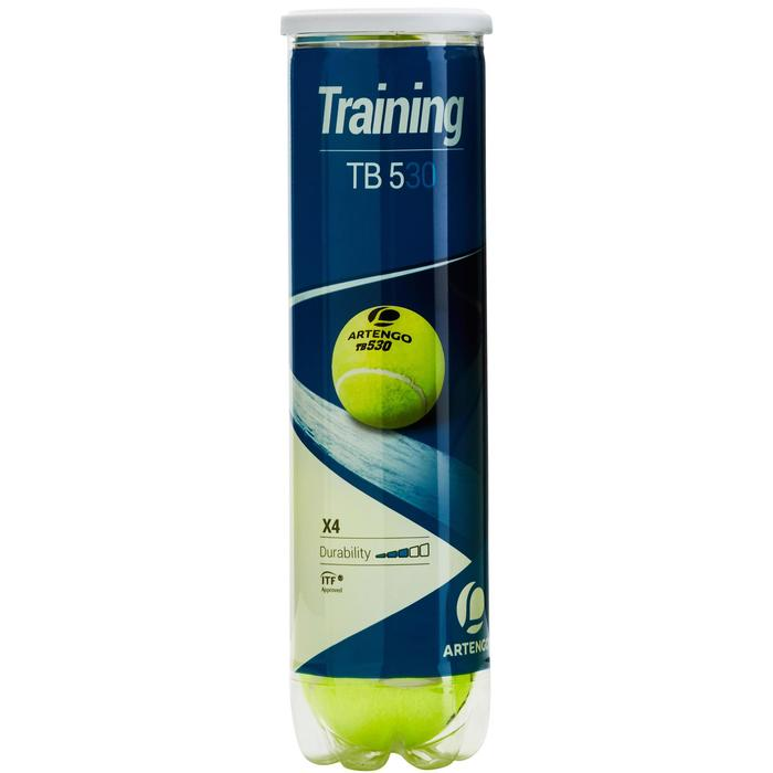 Tennisballen training TB 530 *4 geel