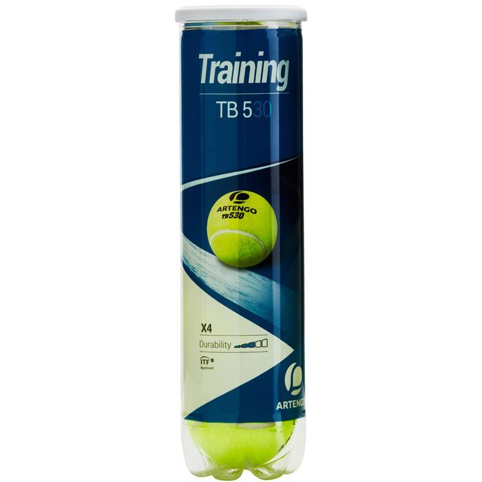 Tennisballen voor competitie TB530 4 stuks geel
