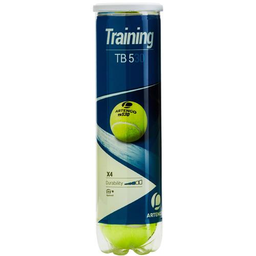 Tube de 4 balles de tennis tb 530 artengo