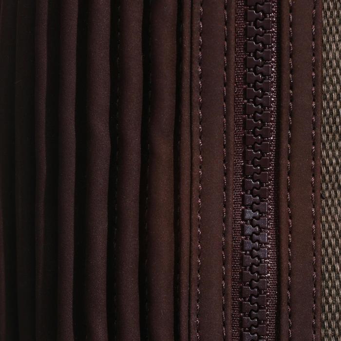 Mini-chaps équitation adulte BASIC 500 soufflet marron - 152129