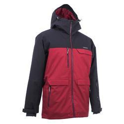 Chaqueta de Nieve y Snowboard, Wed'ze Snb 500, All Mountain/Free, Hombre, Rojo