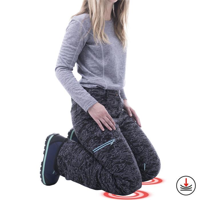 Pantalon de snowboard (et de ski) femme SNB PA 500 camo noir
