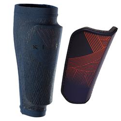 F180 成人足球運動脛骨護具 - 橘色/藍色
