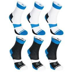 CHAUSSETTES DE SPORT JUNIOR HAUTES ARTENGO RS 160 LOT DE 6