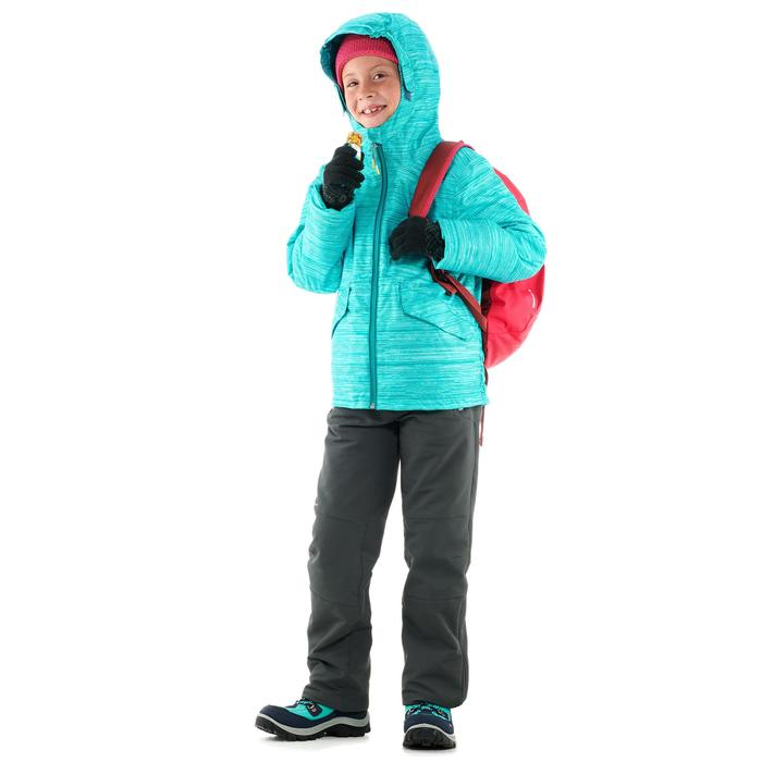 Warme wandelschoenen voor de sneeuw kinderen SH500 Warm high groen