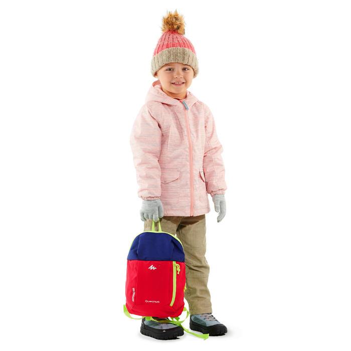 兒童款魔鬼氈中筒保暖雪地健行靴SH500–淺藍色