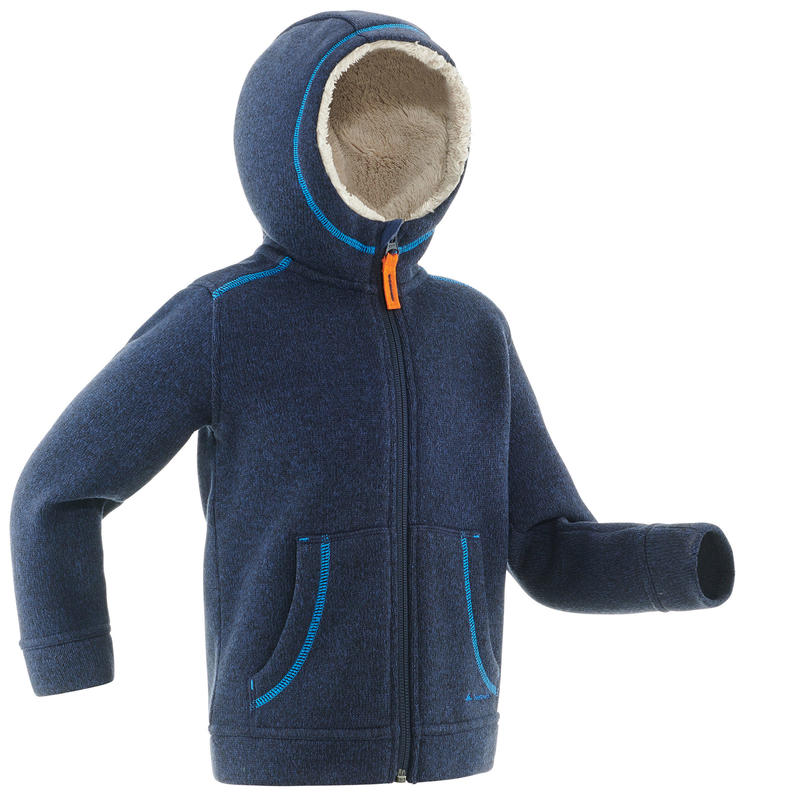 SH100 Warm Child's Snow Hiking Fleece Jacket -Navy
