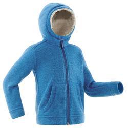 Kinderfleece voor wandelen in de sneeuw SH100 warm blauw