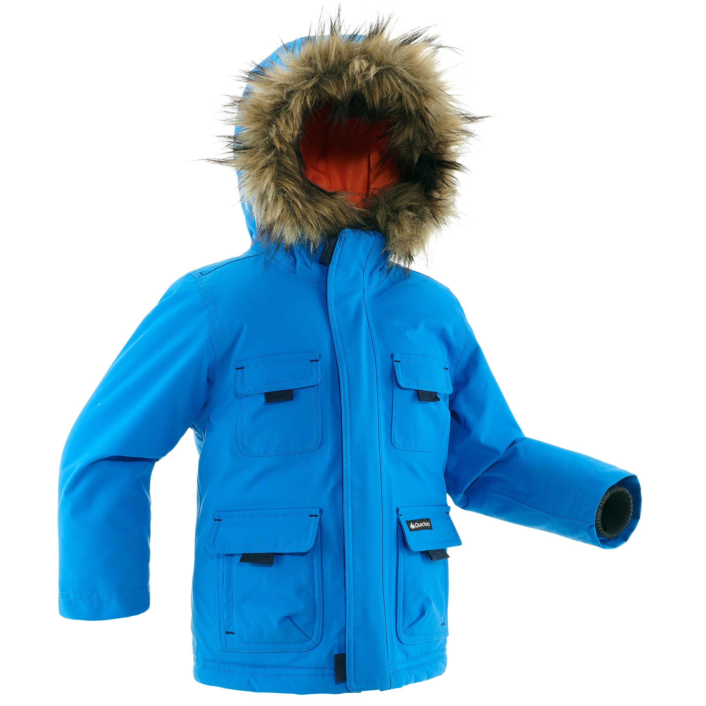 Jungen,Kinder Wanderjacke SH500 X-Warm Kinder blau | 03608439420870