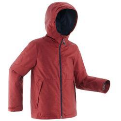 Chaqueta impermeable de senderismo nieve niños 8-14 años SH100 warm rojo