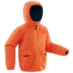Veste de randonnée neige junior SH100 CHAUDE orange
