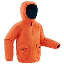 兒童保暖雪地健行外套SH100-橘色