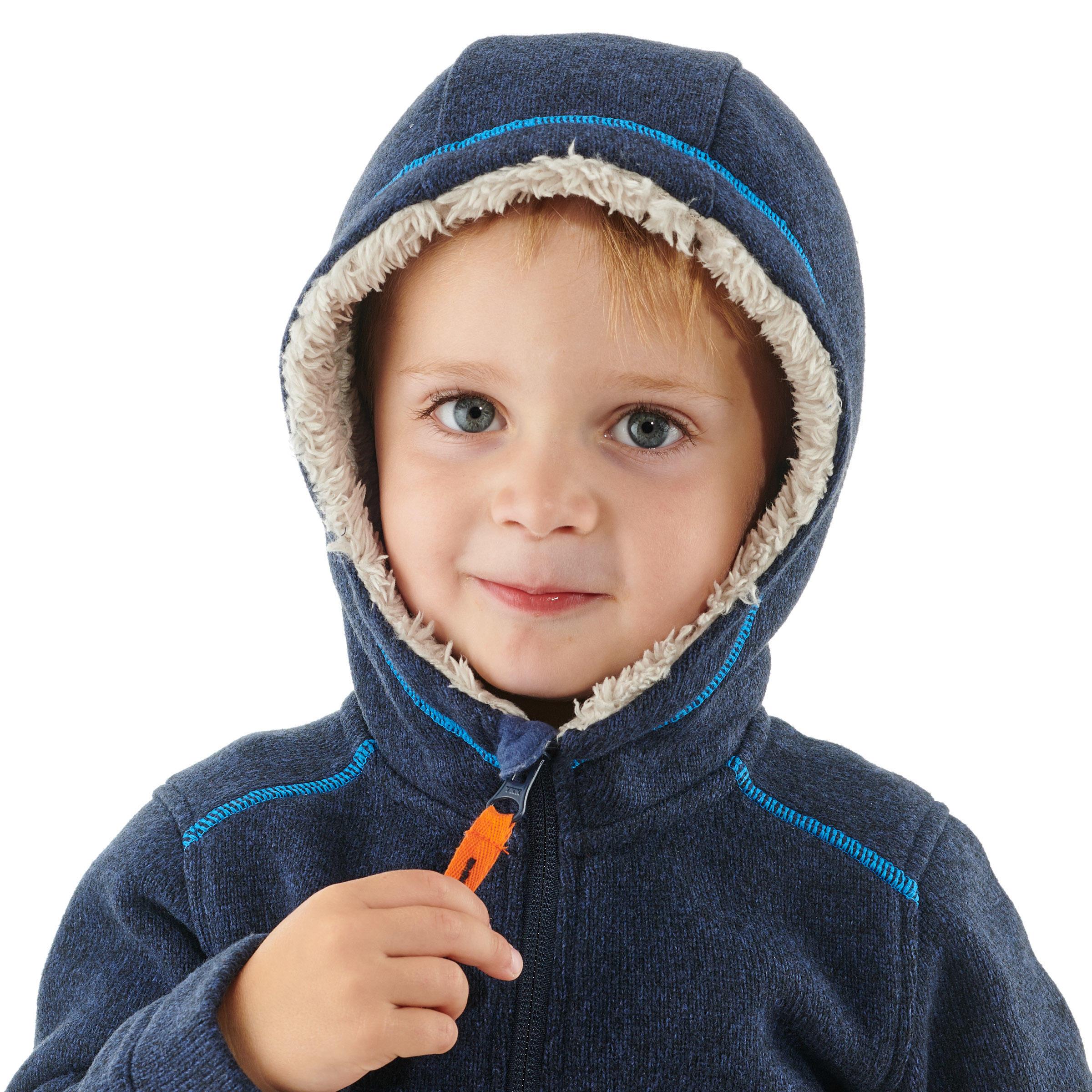 SH100 Warm Child's Snow Hiking Fleece Jacket -Navy