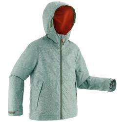 SH100 青少年冬季健行防雪保暖外套 - 卡其色