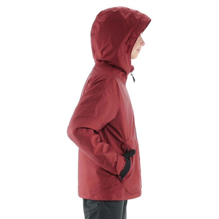 Kinderjas voor wandelen in de sneeuw SH100 warm rood