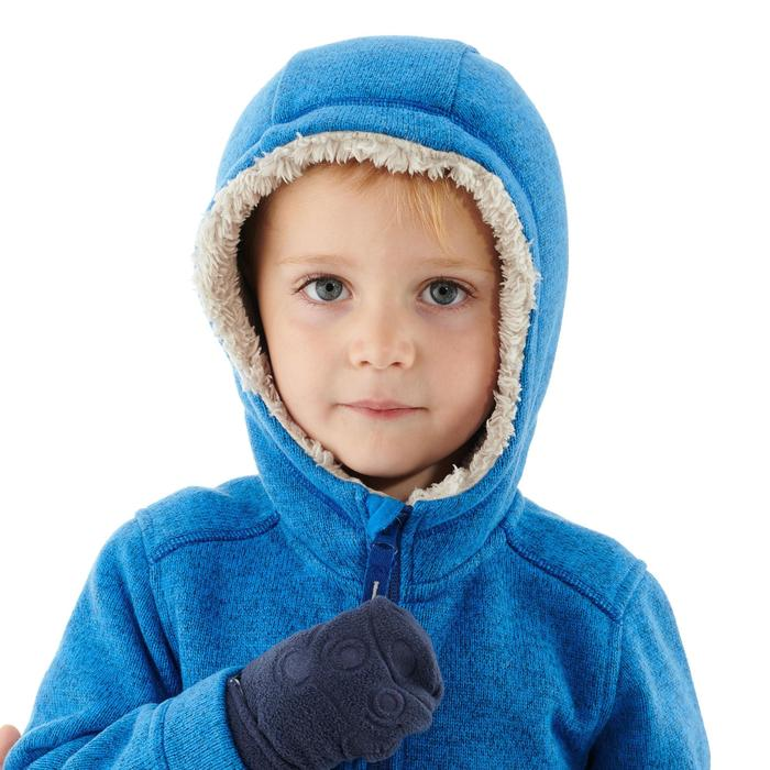 Chaqueta polar de senderismo nieve júnior SH100 warm azul