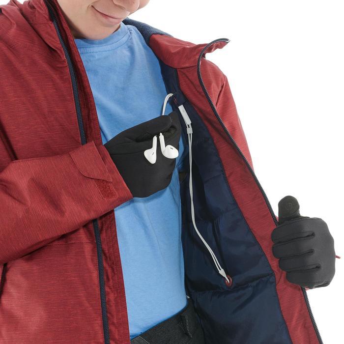 Veste de randonnée neige junior SH100 warm rouge
