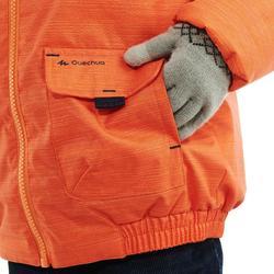 Warme kinderjas voor sneeuwwandelen SH100 warm oranje
