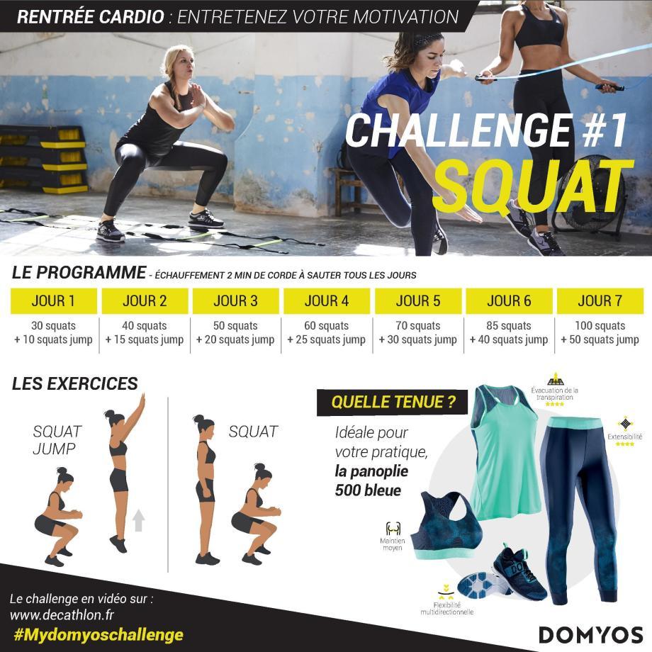 challenge squat domyos cardio