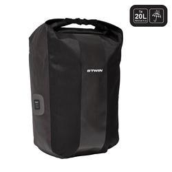 500 Waterproof Pannier Rack Bike Bag 20 L - Black
