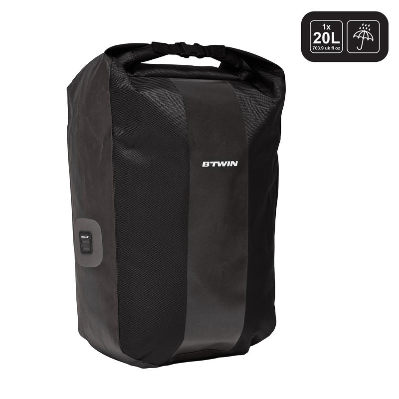 กระเป๋าติดแร็คจักรยานกันน้ำรุ่น 500 ขนาด 20 ลิตร (สีดำ)