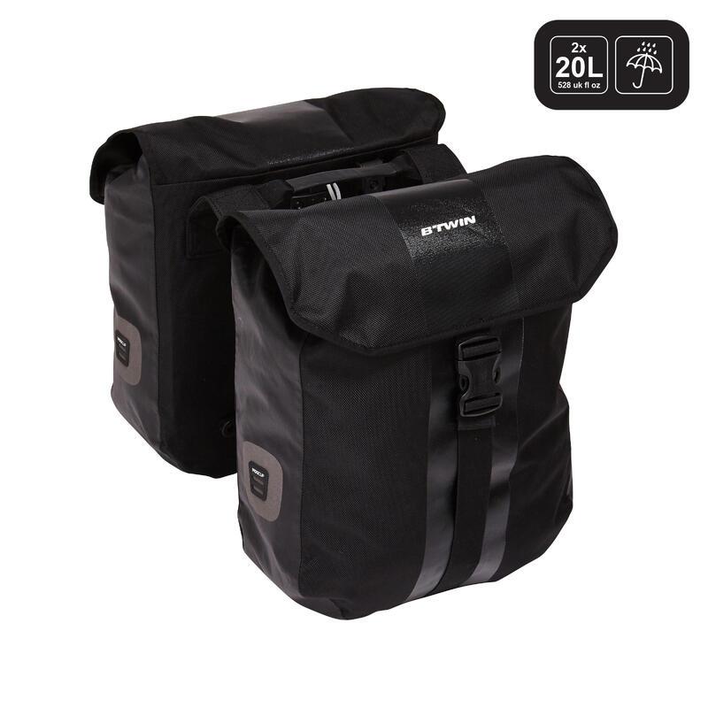 540 Waterproof Double Pannier Rack Bike Bags 2x20L