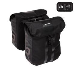 Doppel-Fahrradtasche 540 2 × 20 Liter wasserdicht für Gepäckträger