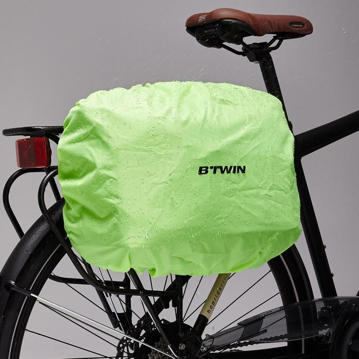 Fahrradtassche Business Bag 500 15 Liter lila/beige