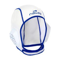 Gorro waterpolo 500 junior easyplay con tira autoadherente blanco