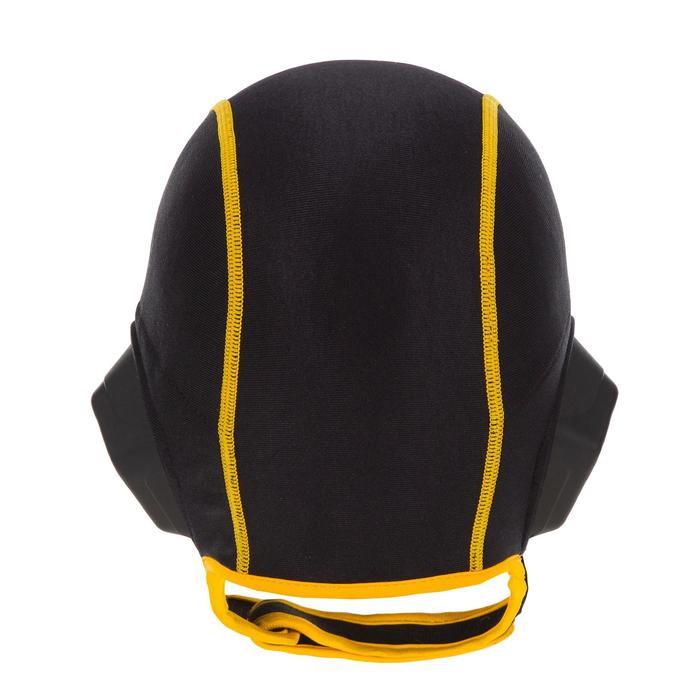 Bonnet water polo 500 junior easyplay à scratch noir
