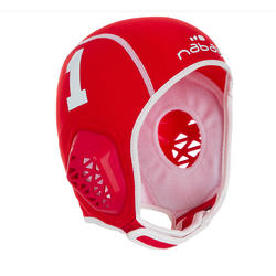 Set of 15 white Easyplay kid's water polo caps