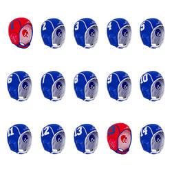 Set van 15 caps voor waterpolo kinderen Easyplay blauw