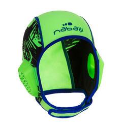 Gorro waterpolo 500 junior easyplay con tira autoadherente verde
