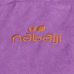 Bademantel Mikrofaser Kapuze Taschen Gürtel Kinder violett