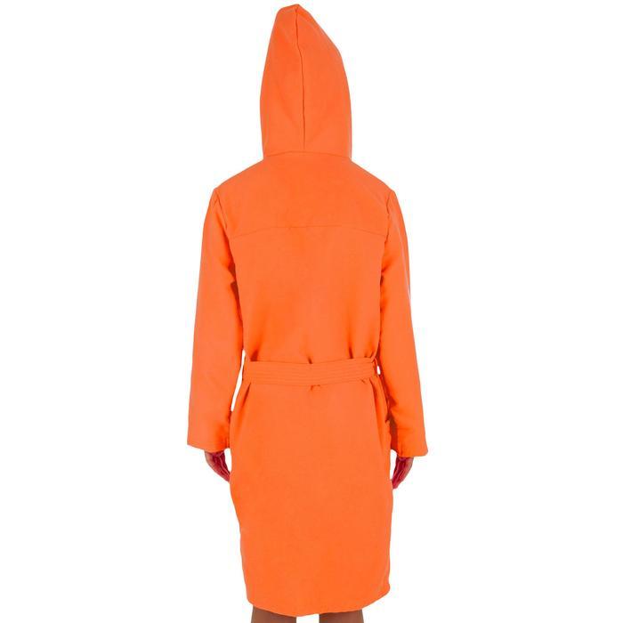 Pack albornoz junior naranja y toalla de microfibra L 80x130 cm naranja Nabaiji