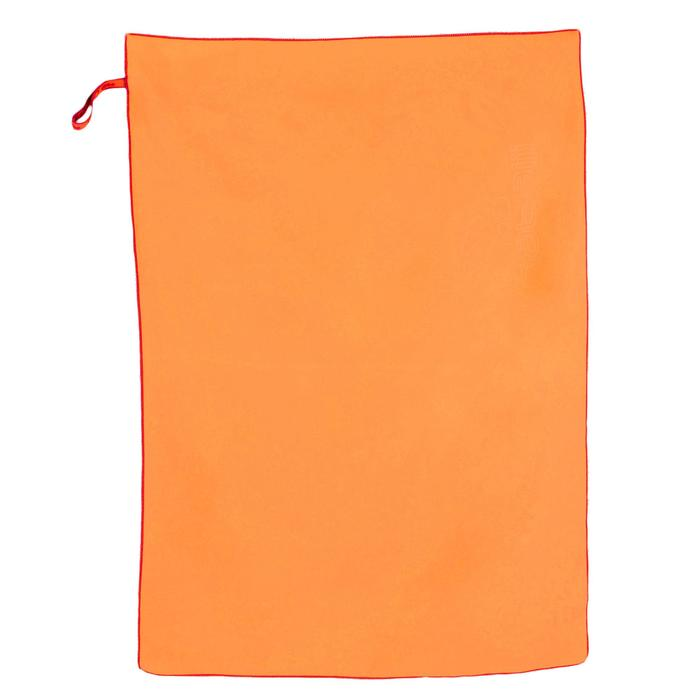 Set Bademantel orange und Mikrofaser-Badetuch L 80 × 130  cm orange Kinder