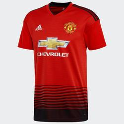 Voetbalshirt voor volwassenen, replica thuisshirt Manchester United rood.