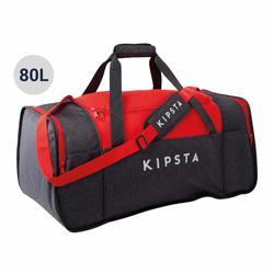 Voetbaltas / Sporttas Kipocket 80 liter grijs/rood