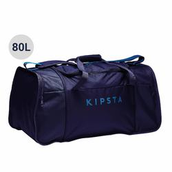 Teamsporttas Kipocket 80 liter blauw/zwart/petroleumblauw