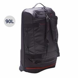 滾輪式團體運動包Away 90L-黑色/紅色