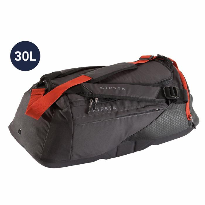 Sporttasche Away 30 Liter schwarz/grau/rot